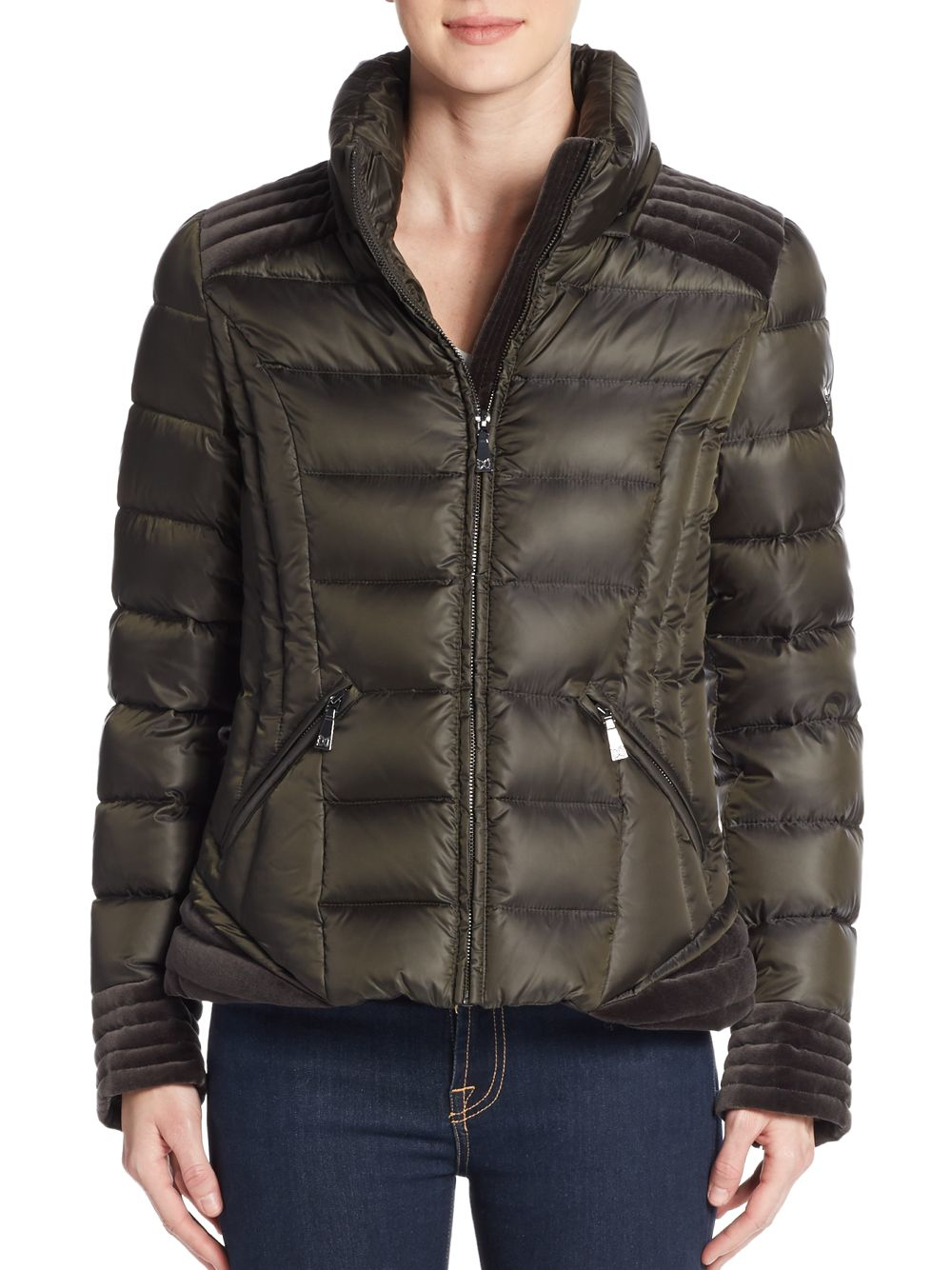 Jacket Ski Pants Lyst - Dawn Levy Olivia Fur-trimmed Down Puffer Jacket In