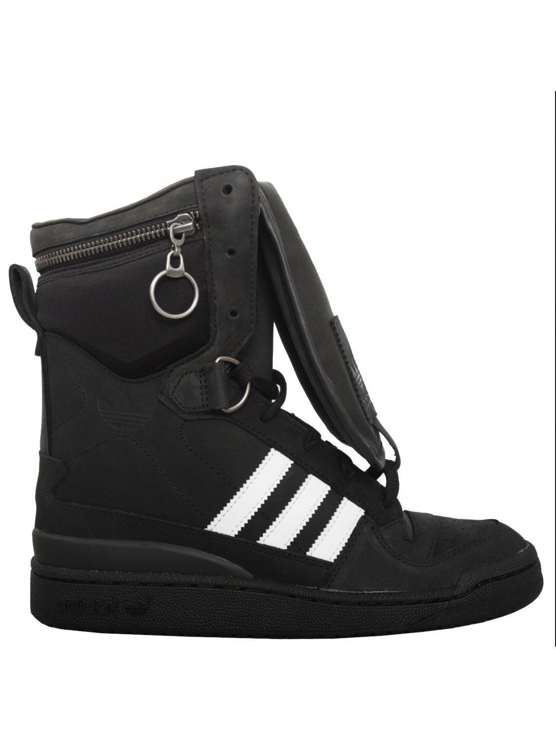 Black Tall Boy Jeremy Scott For Adidas Tall Boy High Sneakers Black In