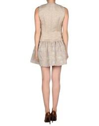 Red valentino Short Dress in Beige | Lyst