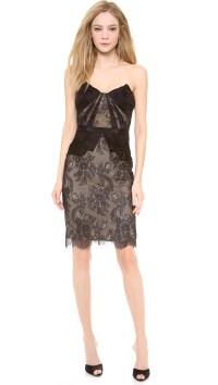 Strapless Black Cocktail Dresses