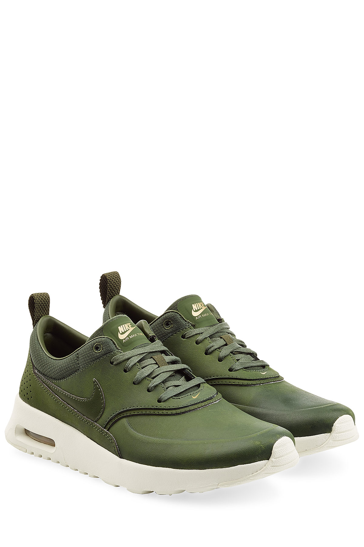 Kaki Groen Lyst - Nike Air Max Thea Premium Leather Sneakers - Green
