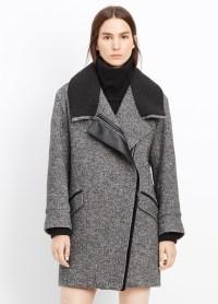 Lyst - Vince Shawl Collar Asymmetric Coat in Black