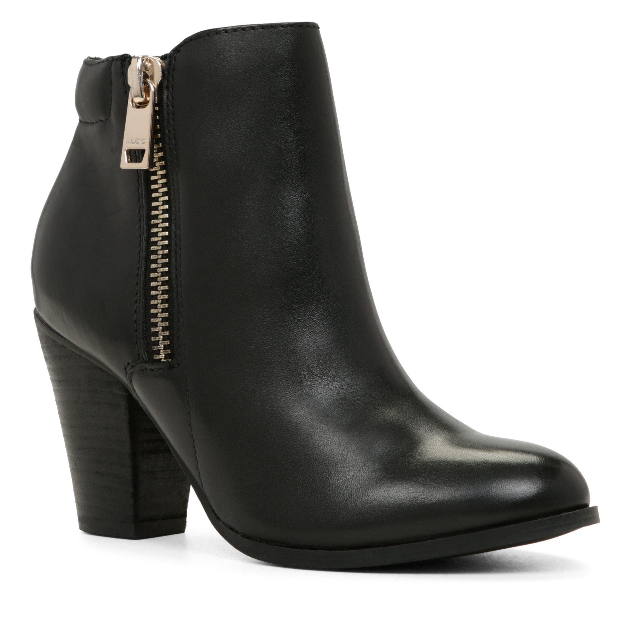 Aldo Janella Zip Ankle Boots In Black Lyst