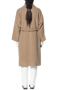 Mara hoffman Wool Wrap Coat in Natural | Lyst
