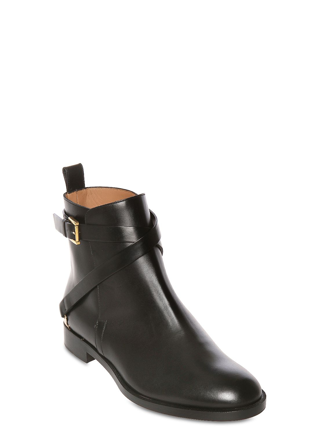 Fratelli Rossetti 20mm Belted Calf Leather Ankle Boots In