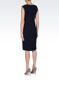Lyst - Armani Classic Sheath Dress in Stretch Cady in Blue