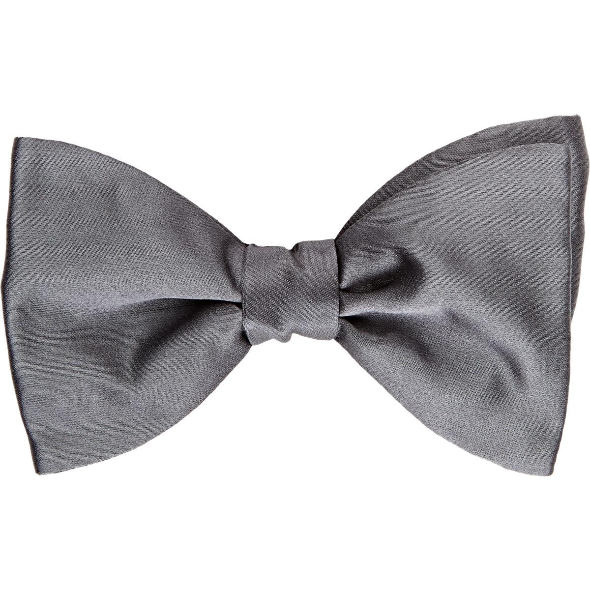 Lanvin Satin Alber Bow Tie in Gray for Men (Grey)