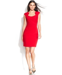Calvin klein Petite Cap-sleeve Cutout-neckline Sheath in ...