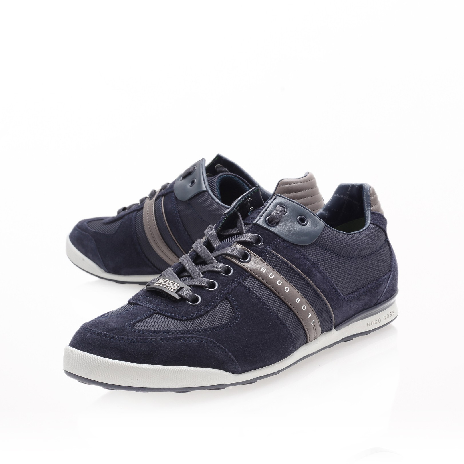 Hugo Boss Sneakers Boss Akeen Lo Pro Sneaker In Blue For Men Navy Lyst