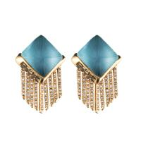 Lyst - Alexis Bittar Lucite Fringe Pyramid Clip Earring ...