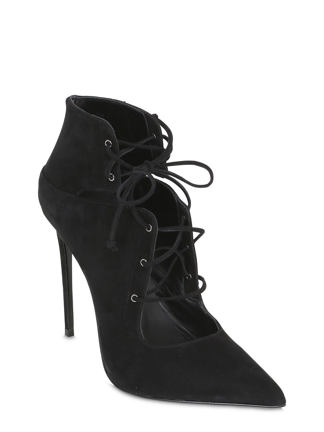 Le Silla Boots Le Silla 110mm Lace Up Suede Boots In Black Lyst