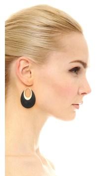 Alexis bittar Orbital Dangling Hoop Earrings in Black | Lyst