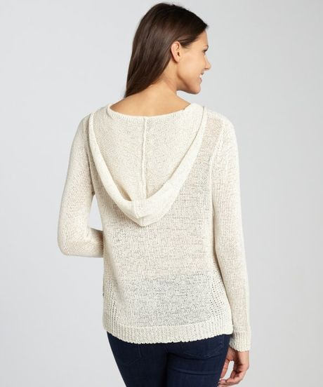 Sweater Hoodie Gap Enza Costa White See Through Crochet Sweater Hoodie In