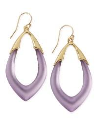 Alexis Bittar Prairie Crocus Orbit Lucite Earrings Purple ...