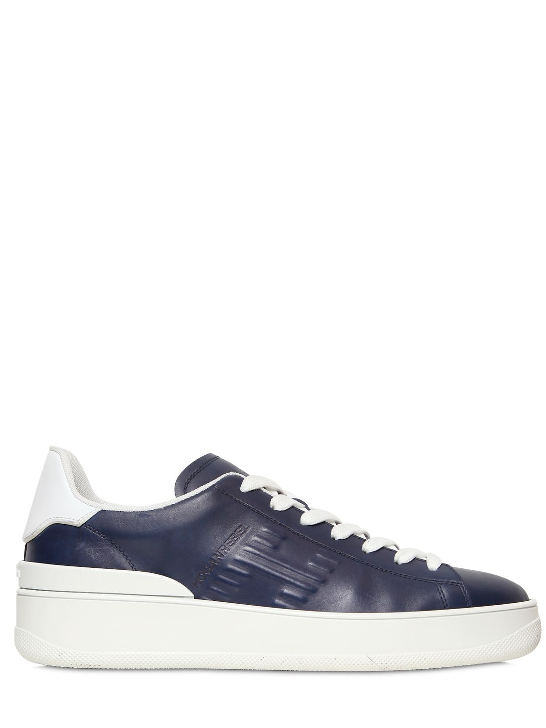 Hogan Rebel Hogan Rebel Pure 3986 Leather Sneakers In Blue For Men Lyst