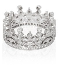 Lyst - Kojis White Gold Diamond Crown Ring in White