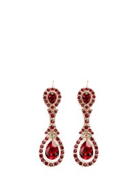 Lyst - Givenchy Oval Swarovski Crystal Drop Earrings in Red