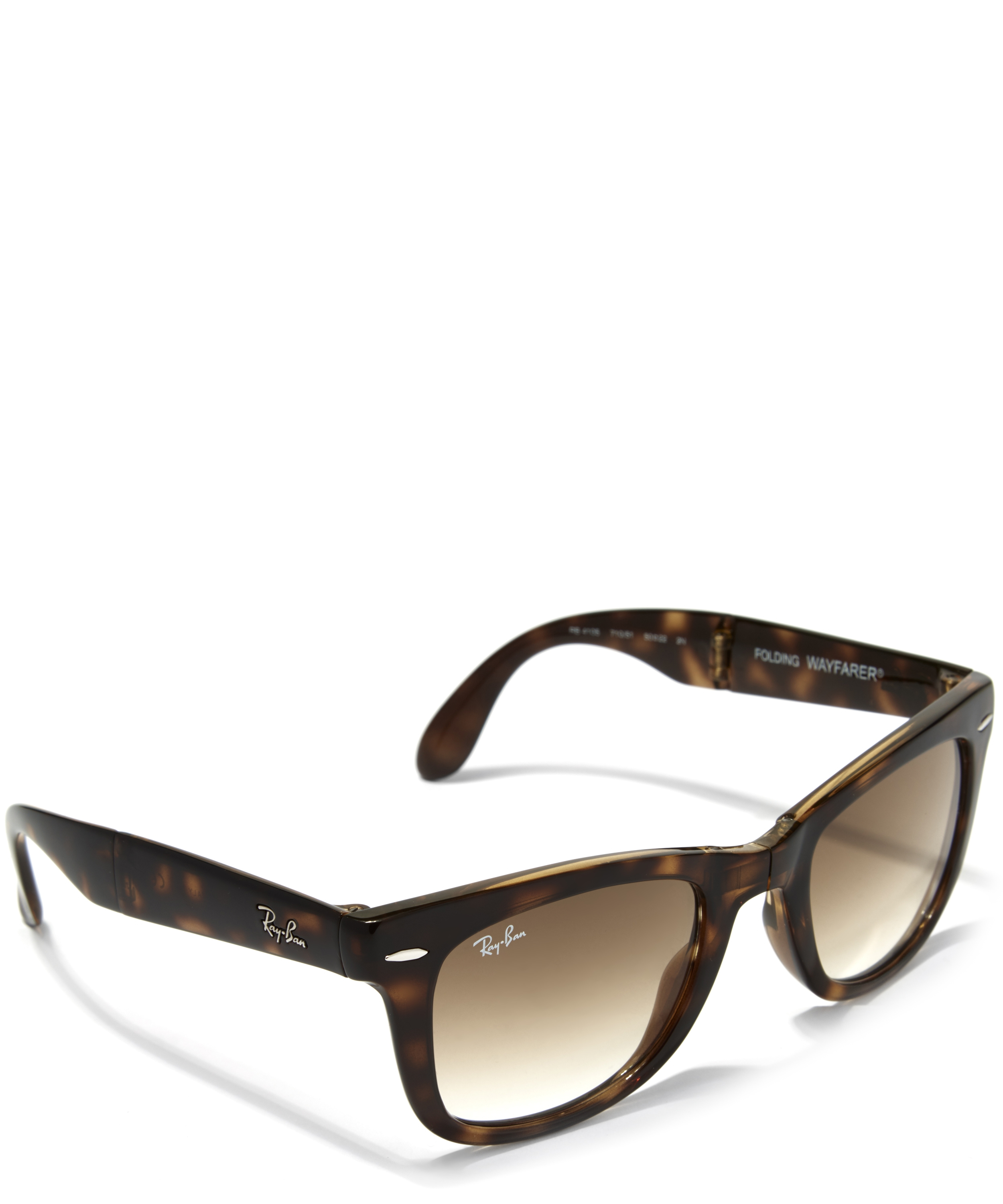 Test Optiker 2015 Folding Wayfarer Brown Polarized Louisiana Bucket Brigade