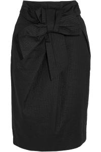 Lyst - J.Crew Tie-front Cotton-seersucker Skirt in Black