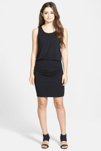 Halogen Blouson Tank Dress (petite) in Black | Lyst