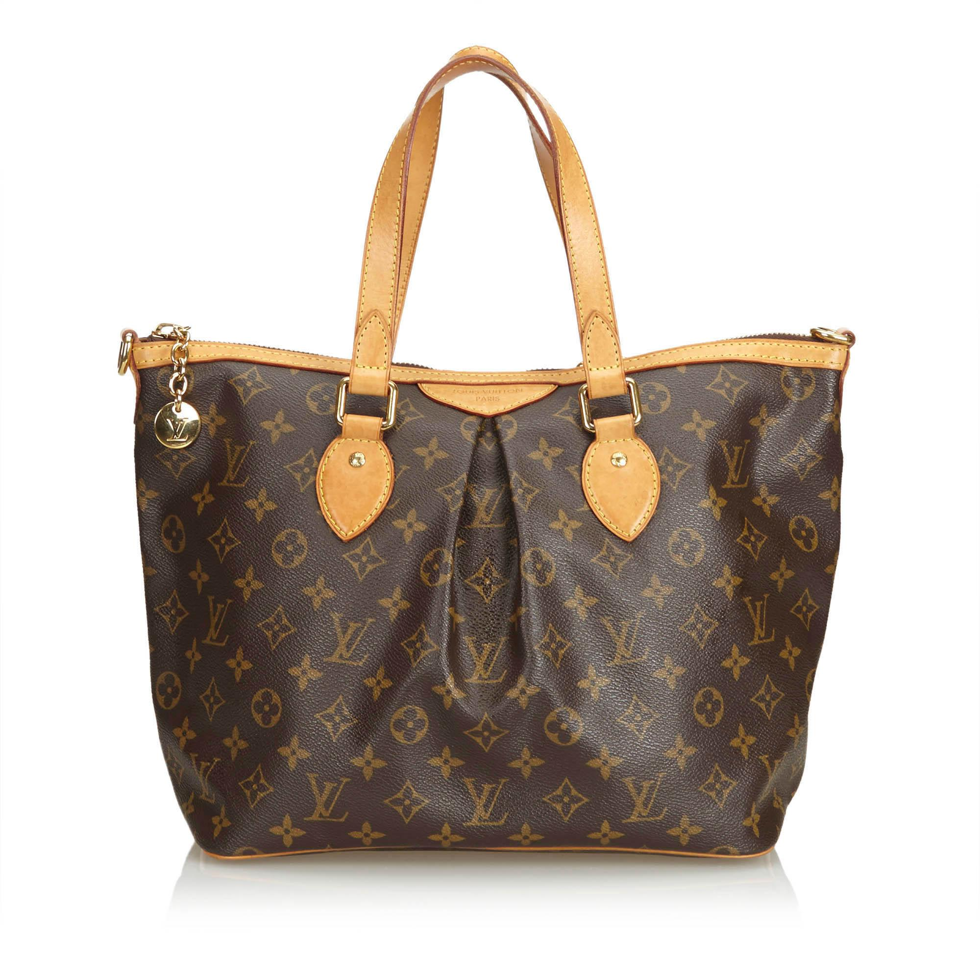 Louis Vuitton Tivoli Vs Palermo Lyst Louis Vuitton Monogram Palermo Pm In Brown