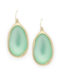 Alexis bittar Lucite Drop Earrings in Green | Lyst