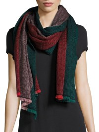 Bajra Colorblock Wool Scarf in Red | Lyst