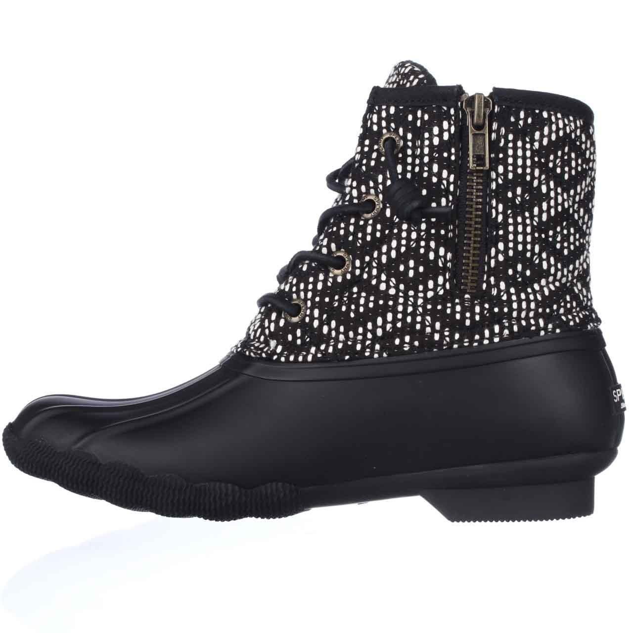 Lyst Sperry Top Sider Saltwater Short Rain Boots In Black