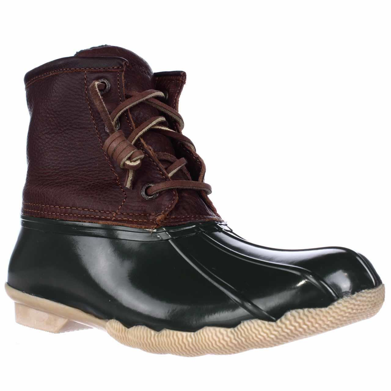 Sperry Top Sider Saltwater Short Rain Boots In Brown Lyst