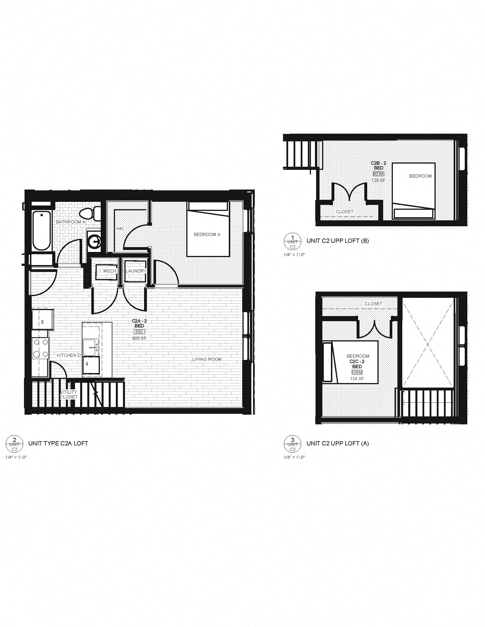 loft bed diagram
