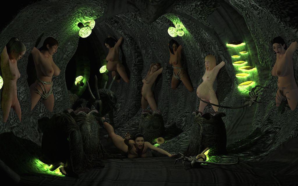 Her name hentai alien belly burst pile