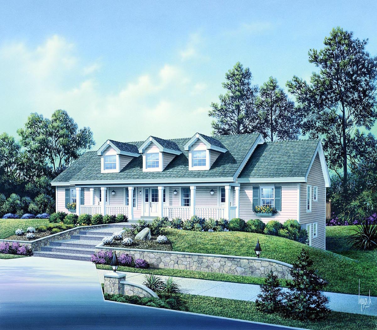 Multi Unit House Plans Cape Cod Country Ranch Multi Family Plan 86977