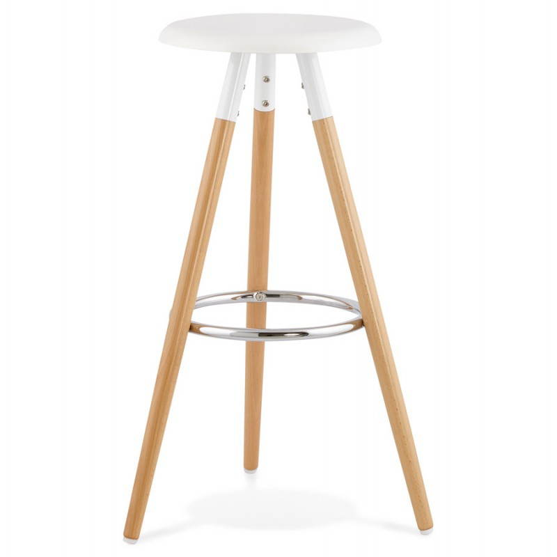 Table Ronde 110 Cm Tabouret Bois De Bar Design Scandinave 3 Pieds Pierrot