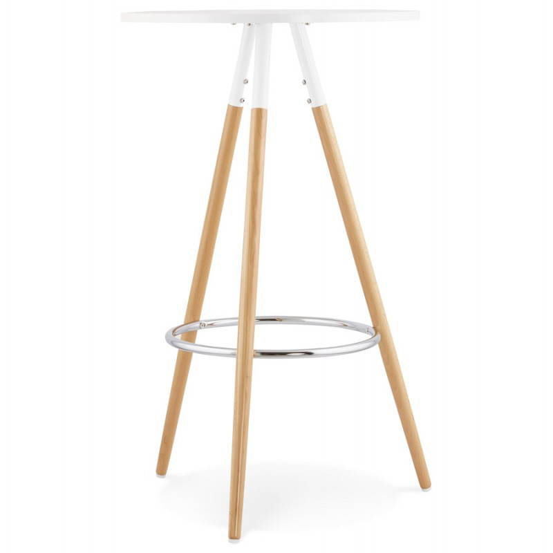 Table Haute Ronde Table Haute Ronde Scandinave Julie En Bois (Ø 65 Cm