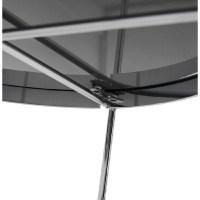 Table d'appoint pliable, bout de canap ZOE en verre et ...