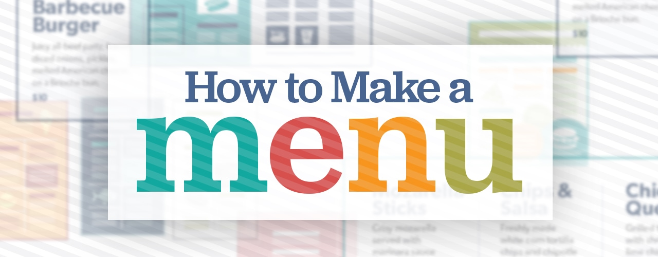 Restaurant Menu Design How to Create a Menu