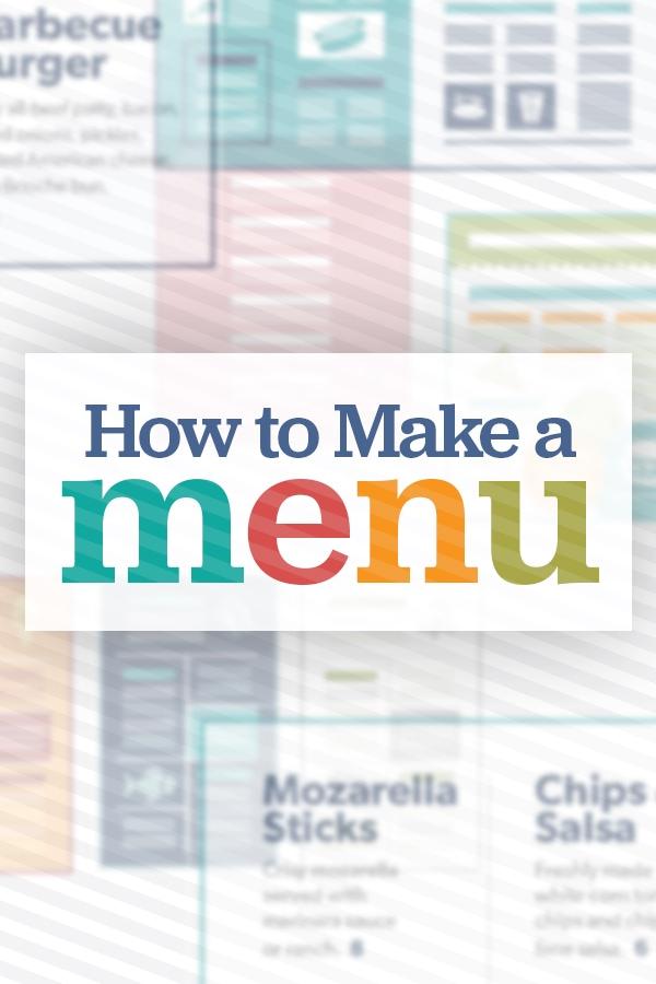 Restaurant Menu Design How to Create a Menu