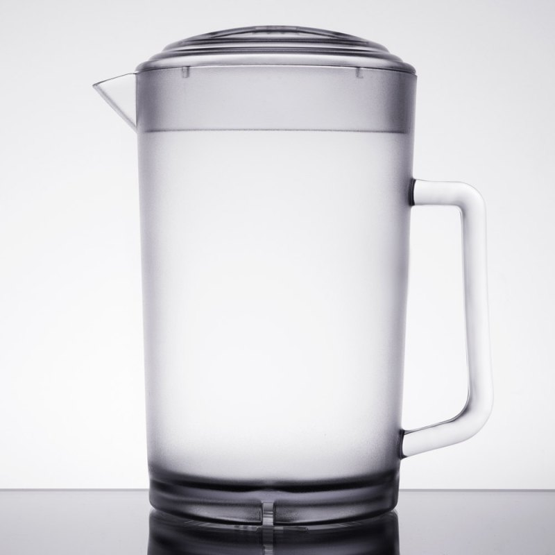 Large Of Glass Pitcher With Lid