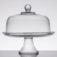 Rectangular Cake Plate With Cover & 14\ Metal Silver ...