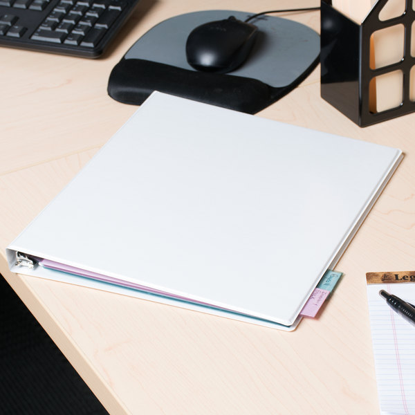 Universal UNV20952PK White Economy Non-Stick View Binder with 1/2 - 6 inch binders