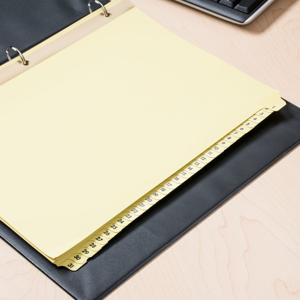 Universal UNV20813 Buff Plastic-Coated 31-Tab Preprinted Numerical - folder dividers tabs