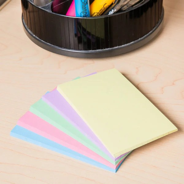 Universal UNV47216 3\ - what size are notecards
