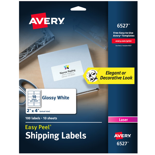 Glossy White Easy Peel Permanent Laser Printable Shipping Label