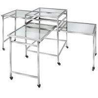 """Eastern Tabletop ST1850G 31"""" x 31"""" Square Glass Rolling ..."""