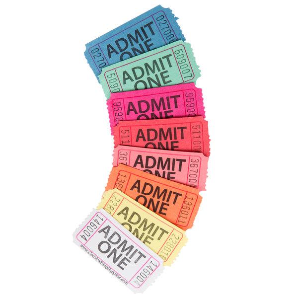 black raffle tickets