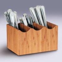 Cal-Mil 1244 Three Slot Bamboo Flatware Holder