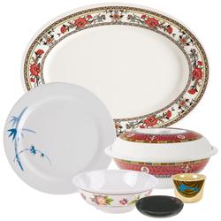Asian melamine dinnerware
