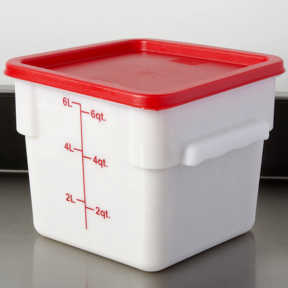 Red Square Lid For 6 And 8 Qt Food Storage Containers
