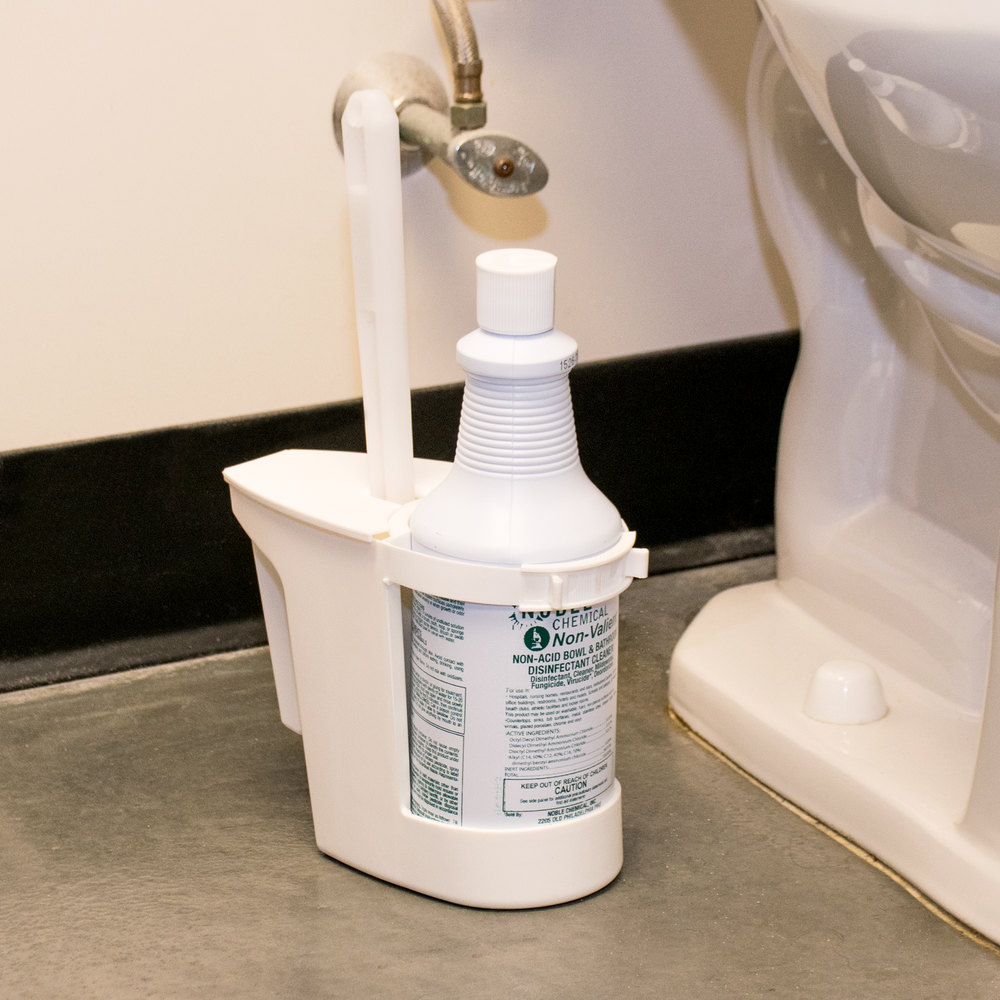 Broom Closet Continental 780 Toilet Bowl Mop & Cleaner Holder