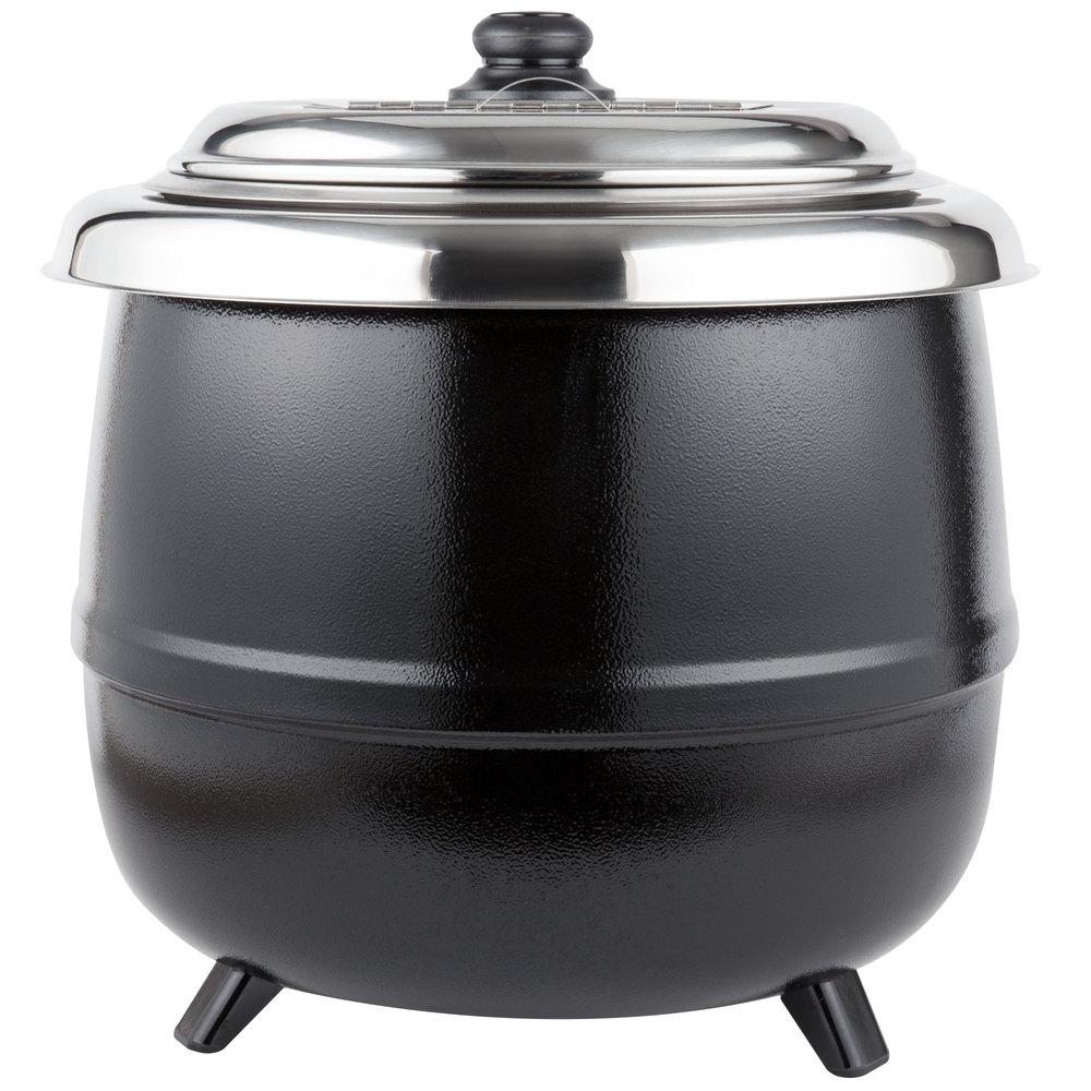 Avantco S600 14 Qt Black Soup Kettle Warmer 110v 600w
